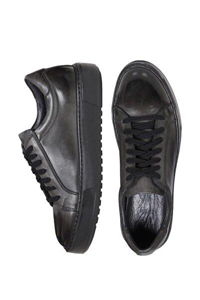 W Collection Erkek Gri Deri Sneakers