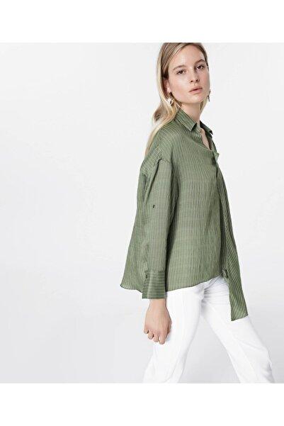 İpekyol Kadın Yeşil Asimetrik Kesim Bluz IS1200006125070