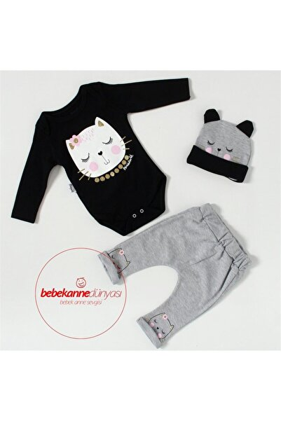Miniworld Miniworl Baby Lüx Uyuyan Kedi Şapkalı Takım M402