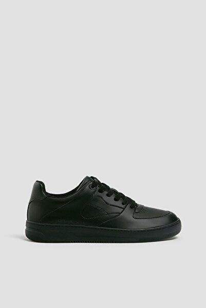Pull & Bear Erkek Siyah Tek Renk Spor Ayakkabı
