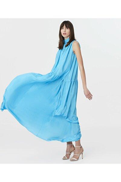 İpekyol Kadın Mavi Maksi Elbise