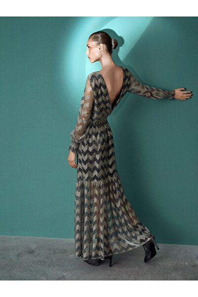 İpekyol Kadın Gümüş Sırt Dekolteli Elbise