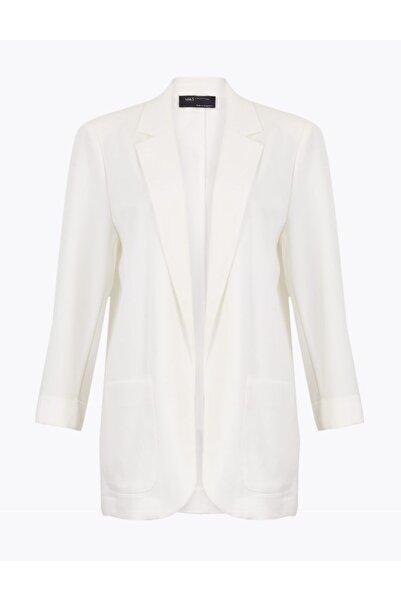 Marks & Spencer Kadın Beyaz Relaxed Blazer Ceket
