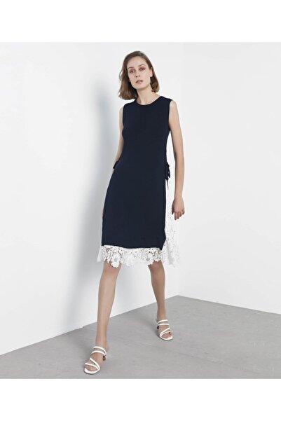 İpekyol Kadın Lacivert Güpür Mix Triko Elbise