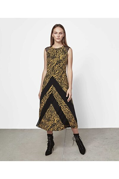İpekyol Kadın Siyah Dantel Şeritli Elbise