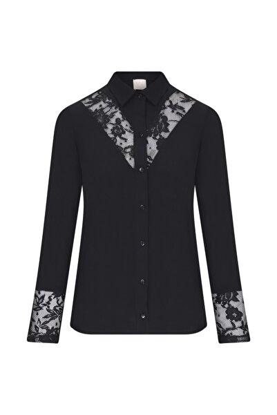 W Collection Kadın Siyah Bluz