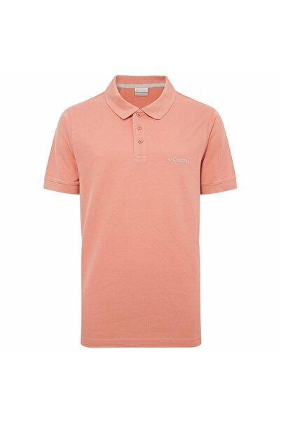 Columbia Erkek Pembe Cascade Range Solid Polo Yaka T-shirt