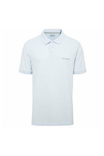 Erkek Mavi Cascade Range Solid Polo Yaka T-shirt