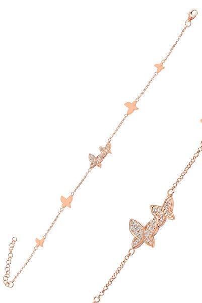 Molenza Kadın Kelebek Model Gümüş Bileklik