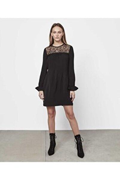 Kadın Siyah Dantel Mix Elbise IW6190002458001