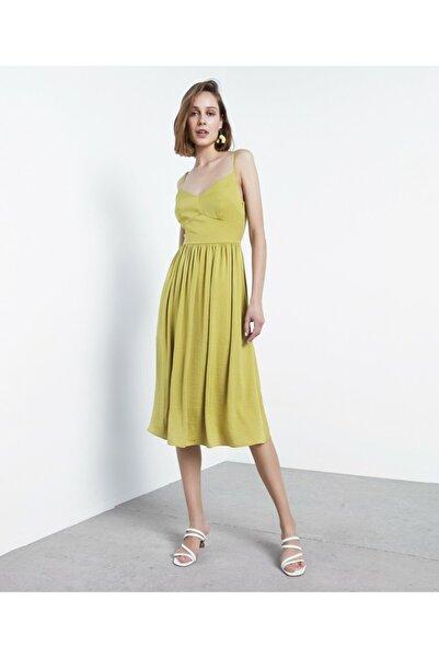 İpekyol Kadın Yeşil Askılı Elbise IS1200002456070