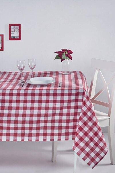 DENIZLI CONCEPT Kırmızı Kareli Masa Örtüsü 160X160