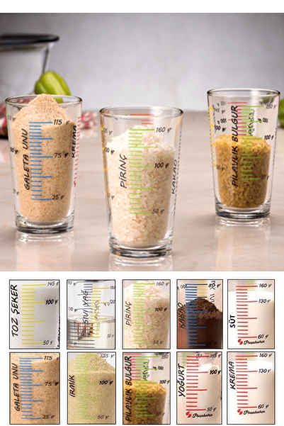 Kitchen Life 3'lü Ölçü Bardağı Seti