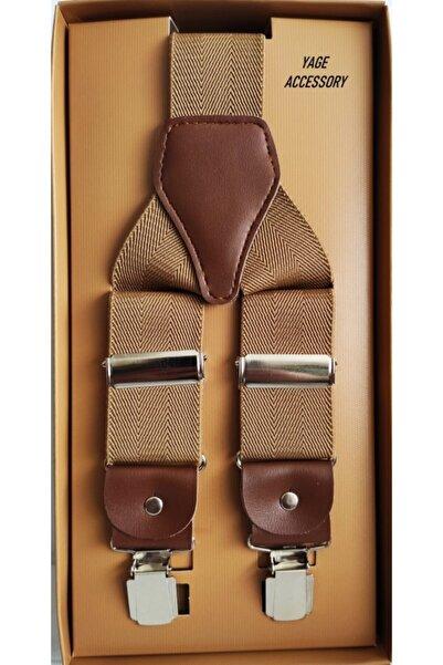 Yage 3.5 Cm Unısex Gold Pantolon Askısı