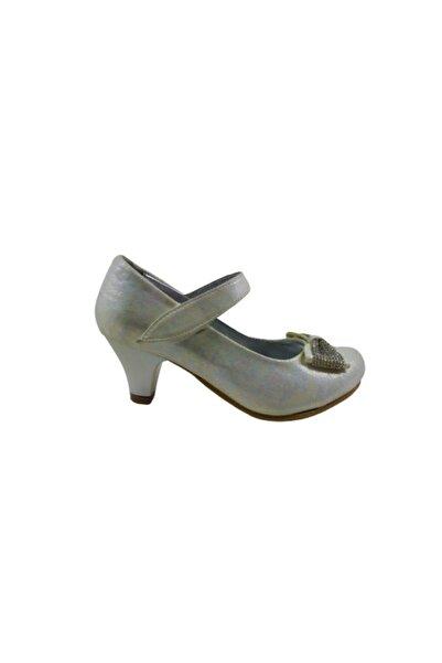 Berra Kız Çocuk Gri Topuklu Ayakkabı
