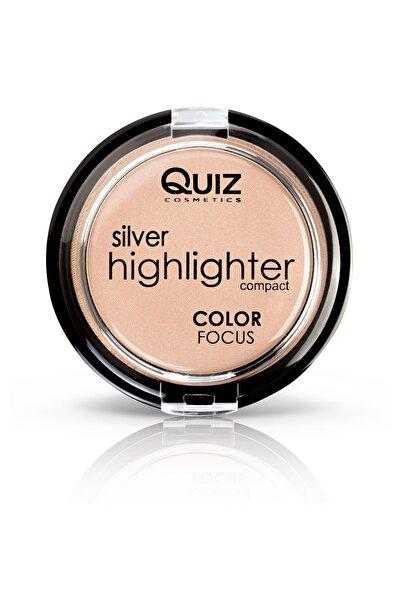 QUIZ Aydınlatıcı Pudra  Color Focus Highlighter Powder Silver