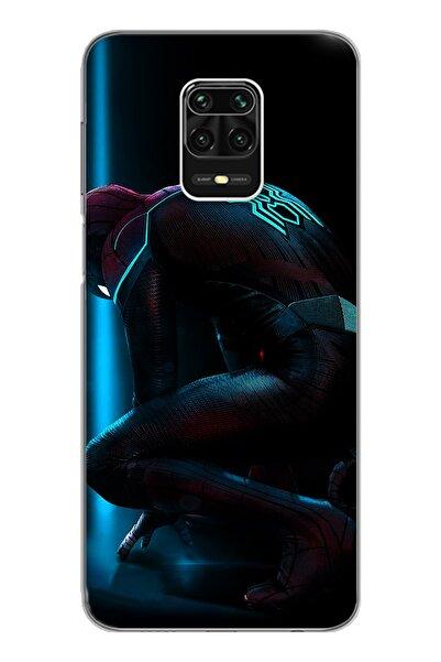 Spoyi Xiomai Redmi Note 9 Pro Note 9s Örümcek Adam Tasarım Süper Şeffaf Silikon Telefon Kılıfı
