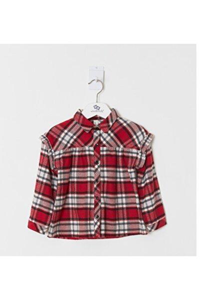Wonder Kıds Kız Çocuk Kırmızı Gömlek