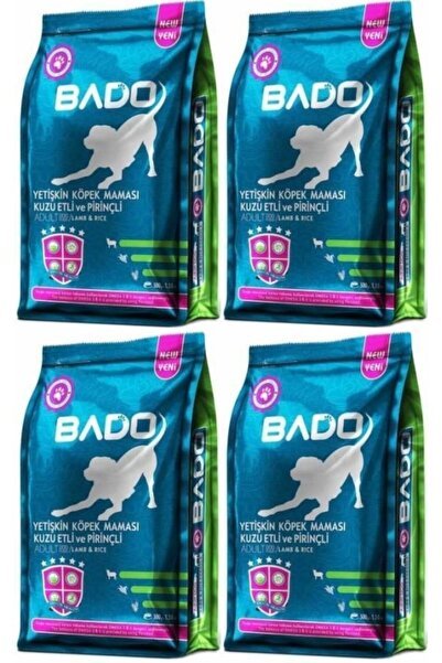 Bado Yetişkin Köpek Maması Kuzu Etli Prinçli 500 gr X 4 Paket