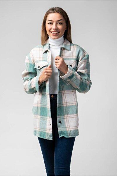 CNS Kadın Yeşil Oduncu Gömlek Ceket
