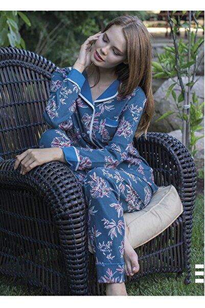 Teknur Kadın Önden Düğmeli Pijama Takımı