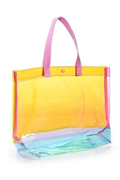Pera Kadın Sarı Plaj Çanta