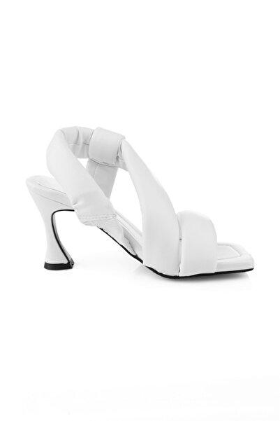 Oblavion Kadın Beyaz Topuklu Sandalet