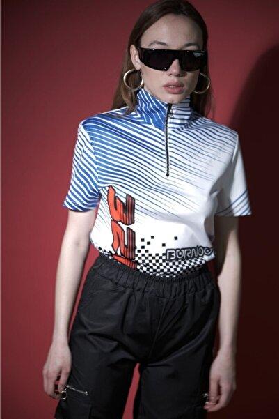 HOLEACADEMIE Kadın Beyaz  Spor T-Shirt