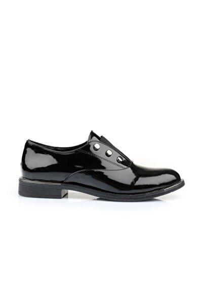 Oblavion Kadın Siyah Rugan Ayakkabı