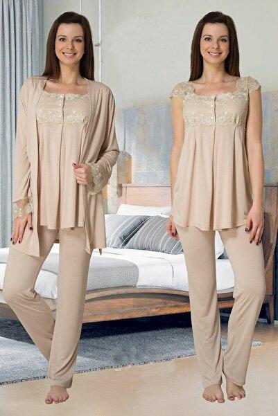 Effort Pijama Effortt 2301sk Sabahlıklı Lohusa Pijama Takımı