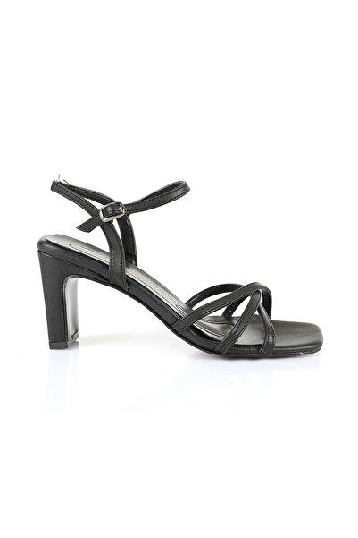 Oblavion Kadın Siyah Topuklu Sandalet