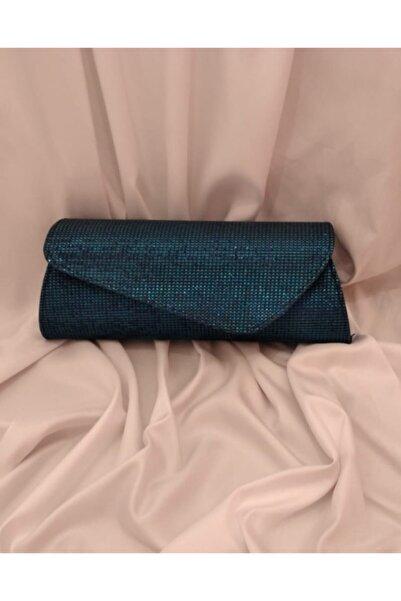 Makko Polo Kadın Mavi Abiye Çanta