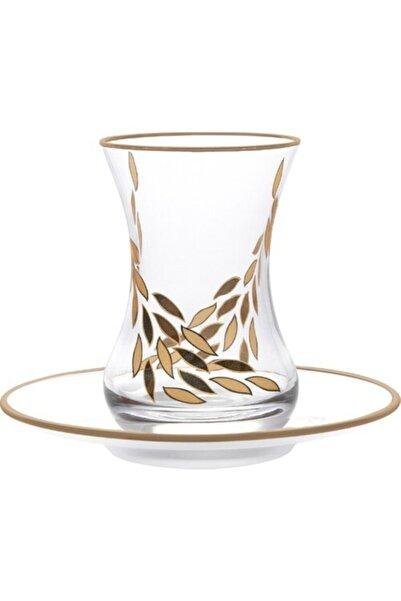 Emsan Başak Gold 12 Parça 6 Kişilik Çay Seti