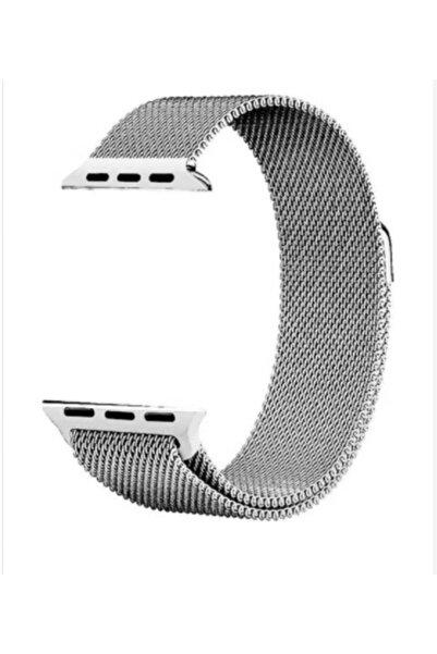 Techmaster Unisex Gümüş Apple Watch 2 3 4 5 Için 38 40mm Metal Hasır Tme Kordon