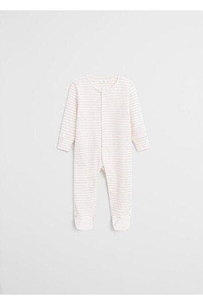 MANGO Baby Organik Pamuklu Desenli Tek Parça Tulum 67072896
