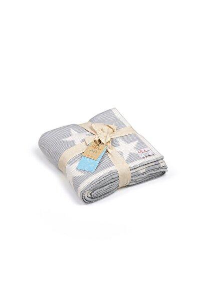 Betires Home Unisex Mavi Örgü Bebek battaniyesi 90x90 cm