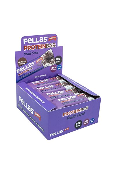 Fellas Duble Kakaolu Protein Bar 32 gr X 12 Adet