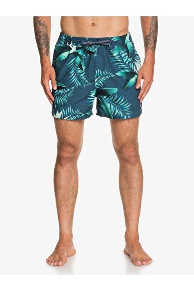 Quiksilver Erkek Lacivert Çiçek Desenli Deniz Şortu