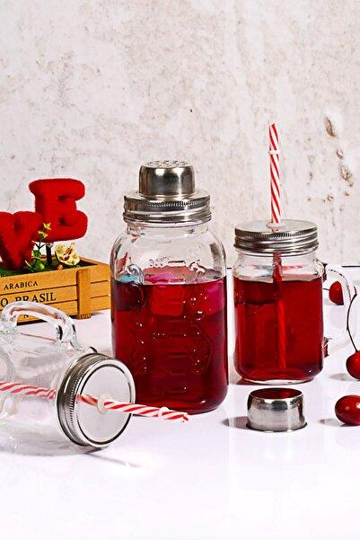 Kitchen World 3'lü Cam Limonata Shaker Set Cam-578