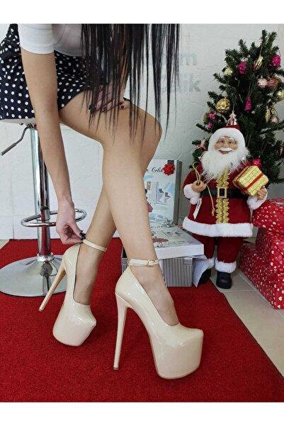 TANEM ÇELİK Kadın Eru 21 cm İnce Topuk Rugan Platform Ayakkabı