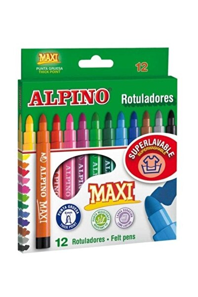 Alpıno Maxi 12'li Keçeli Boya Kalemi