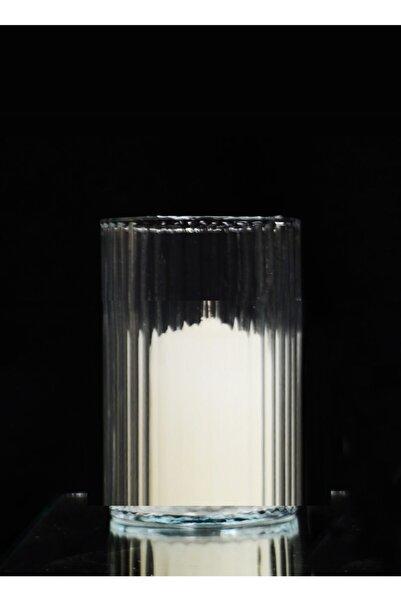 GLASSY Silindir Cam Vazo Mumluk ( 10 Cm Çap- 15 Cm Yükseklik )