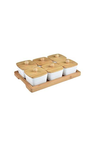 Bambum Porselen Kaseli 13 Parça Kahvaltılık Takımı