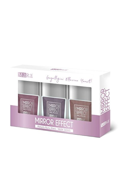 Mara Metalik Ayna Efektli Oje Nude Serisi Pembe/lila/kahverengi
