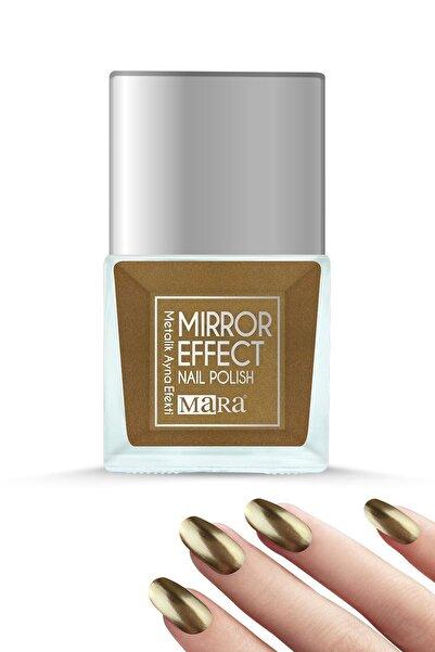 Mara Metalik Ayna Efektli Oje Altın 15ml