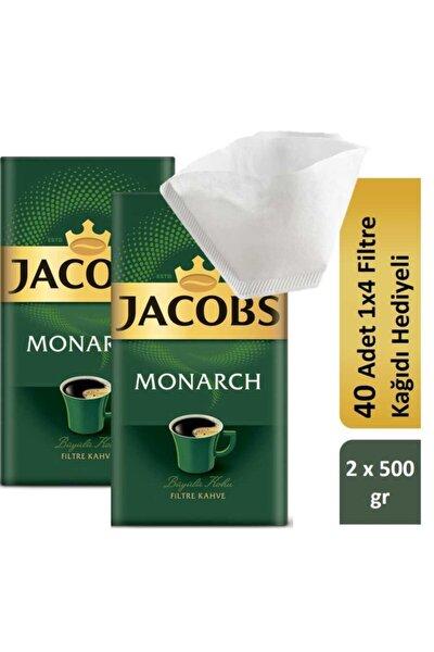 Jacobs Monarch Filtre Kahve 2 X 500 Gr Filtre Kağıdı Hediyeli