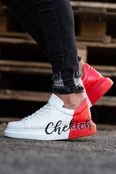 Chekich Ch254 Bt Erkek Beyaz Kırmızı Ayakkabı 427