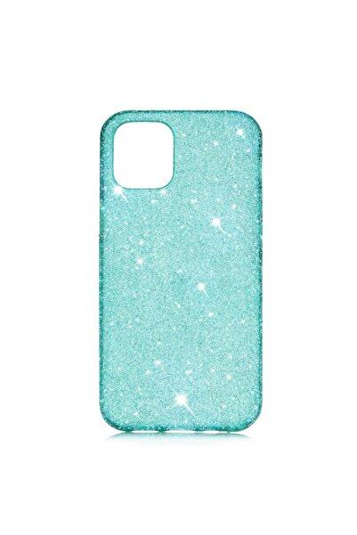 zore Apple Iphone 11 Kılıf Parlak Taşlı Simli Korumalı Buzlu Esnek Silikon Kapak