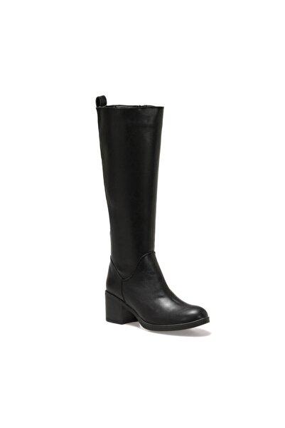 Polaris 316356.z Siyah Kadın Ökçeli Çizme