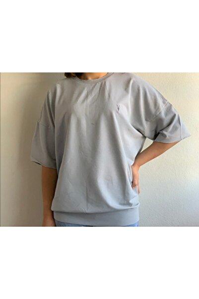 AllSaints Erkek Kısa Kol Gri T-Shirt